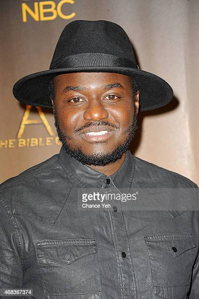 Babou Ceesay attends 'AD The Bible Continues' New York Premiere Reception at The Highline Hotel on March 31 2015 in New York City