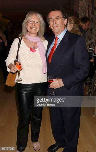 Babs Powell and actor Robert Powell attend the LaurentPerrier Pink Party in aid of The Prince's Trust at the Sanderson Hotel on April 27 2005 in...