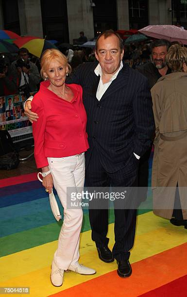 Babs Powell and Mel Smith arrive at the Hairspray Premiere at the Odeon Cinema Leicester Square on July 05 2007 in London England