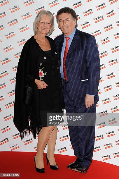 Babs Powell and Robert Powell arrive at the Hidden Gems Photography Gala Auction in aid of Variety Club the Children's Charity at the St Pancras...