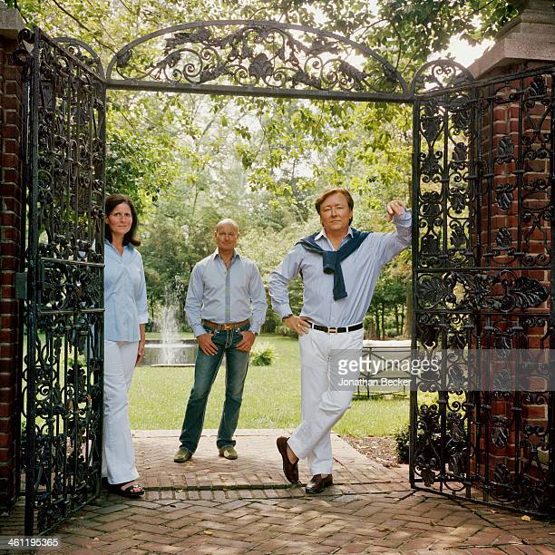 Babs Robinson Prince Dimitri of Yugoslavia and Lee Robinson are photographed for Town Country Magazine on May 6 2012 in Louisville Kentucky PUBLISHED...