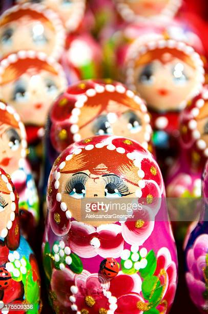 Babushka or Matryoshka Nesting Russian Dolls