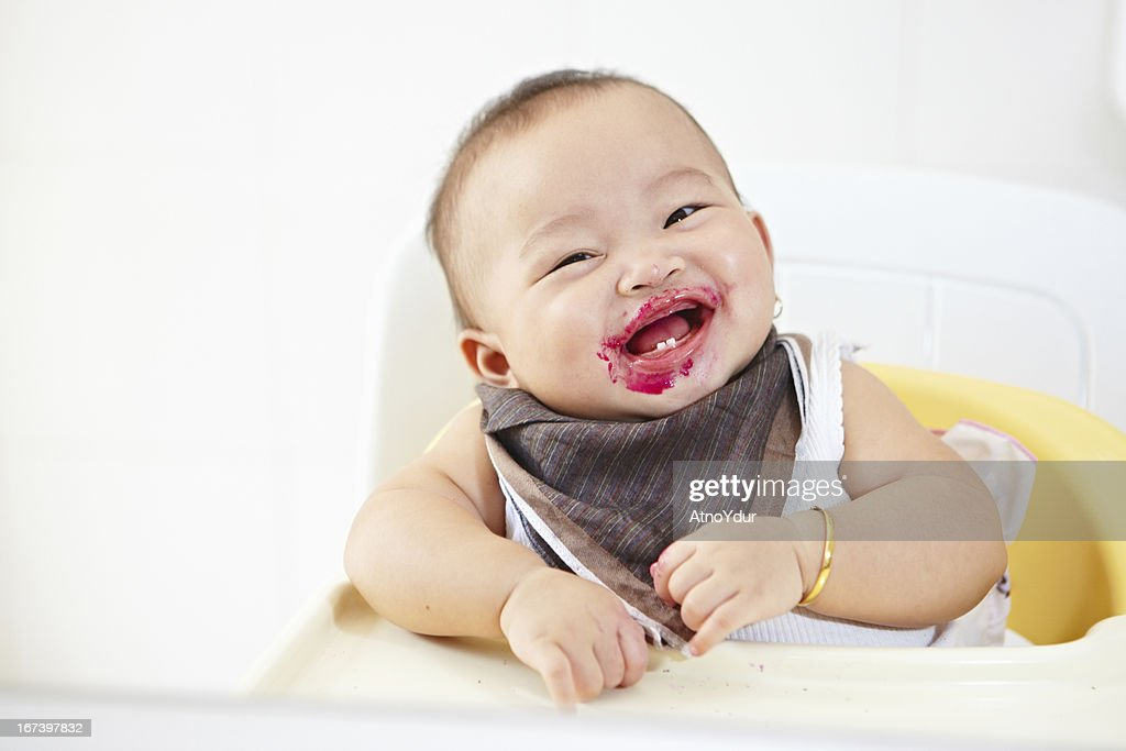 Baby after fed : Stock Photo