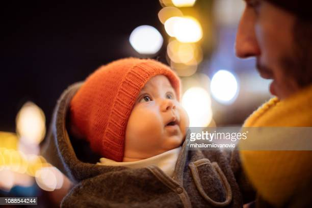 baby and father - small faces stock pictures, royalty-free photos & images