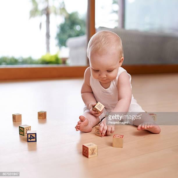 Baby und Ihr Häuserblocks