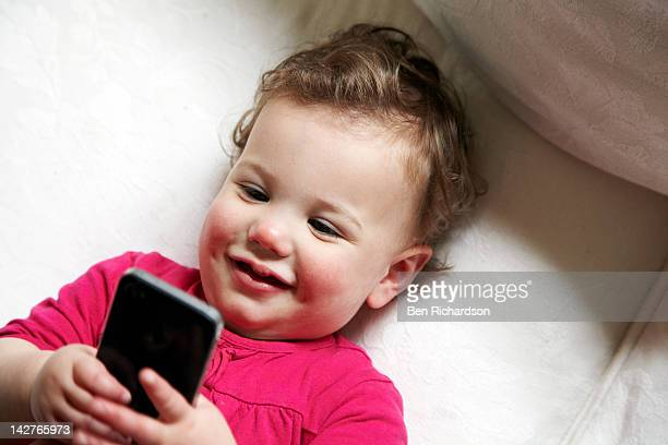 Baby and smart phone