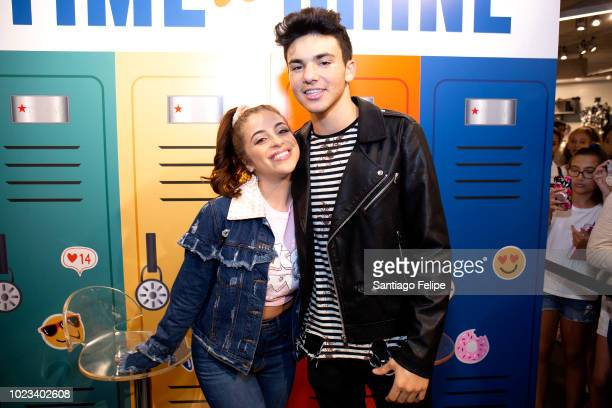 Baby Ariel and Daniel Skye visit Macy's Herald Square in honor of Back To School on August 25 2018 in New York City