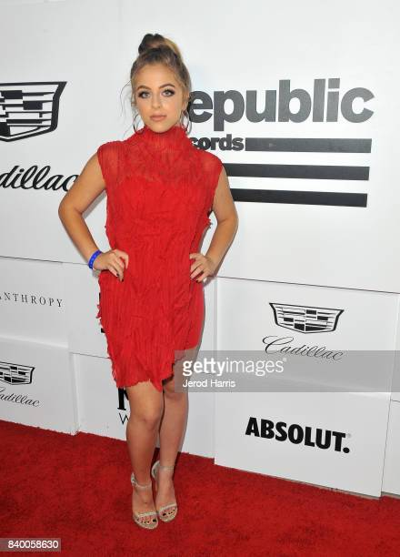 Baby Ariel attends the VMA after party hosted by Republic Records and Cadillac at TAO restaurant at the Dream Hotel on August 27 2017 in Los Angeles...