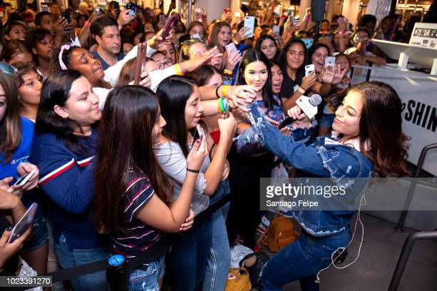 Baby Ariel performs at Macy's Herald Square in honor of Back To School on August 25 2018 in New York City