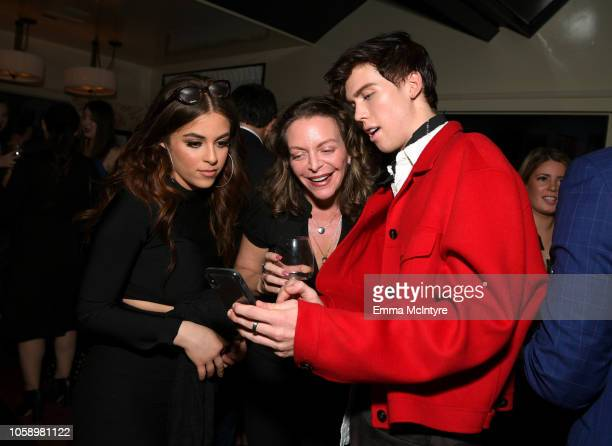 Baby Ariel Sharon Kremen Martin and Aidan Alexander attend The Hollywood Reporter's Next Gen 2018 Celebration at 40 LOVE on November 7 2018 in Los...