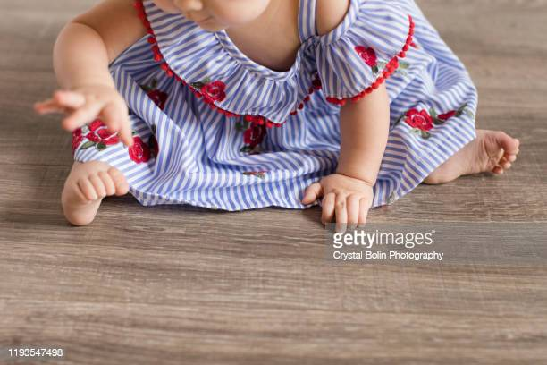 baby at christmas time - cream colored shoe stock pictures, royalty-free photos & images