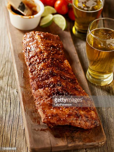 Baby Back Pork Ribs with a Couple of Beers