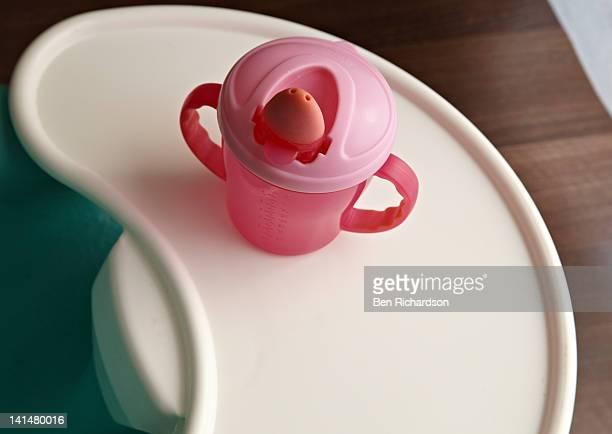 Baby beaker on a tray table