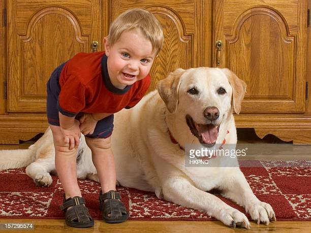 Baby Boy And His Dog
