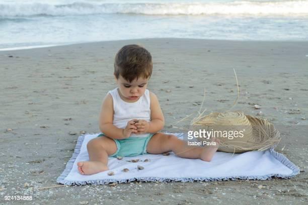Baby boy at beach