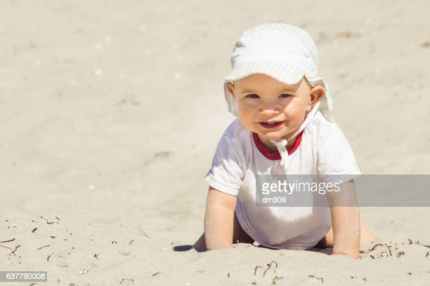 baby boy at the beach