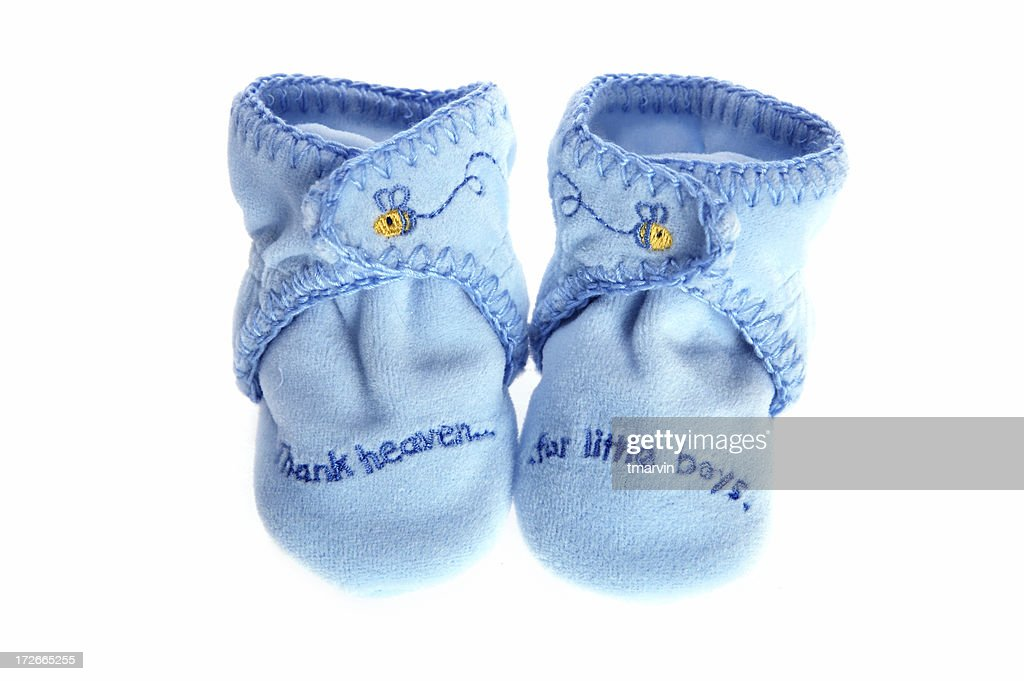 Baby boy booties : Stock Photo