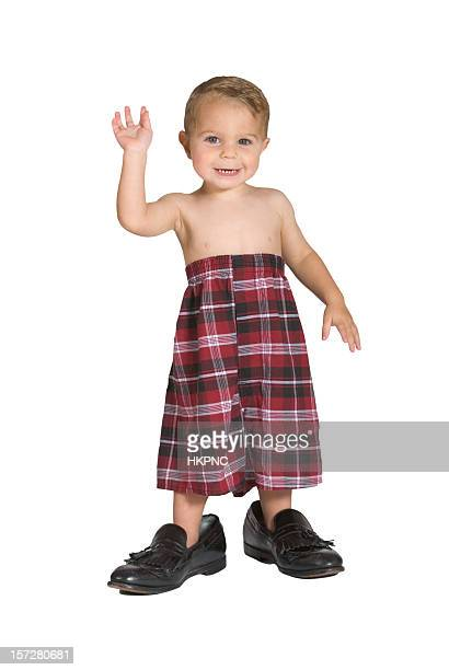 baby boy boxers waving - shorts stock pictures, royalty-free photos & images
