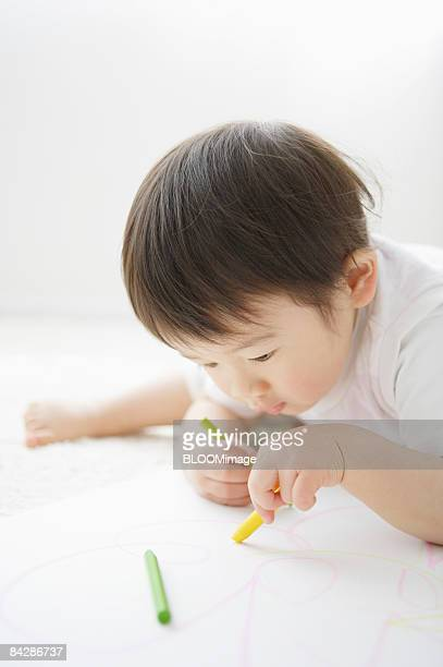 Baby Boy drawing picture