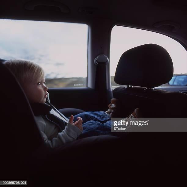 Baby boy (21-24 months) in car seat