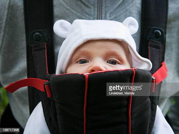 Baby boy in carrier