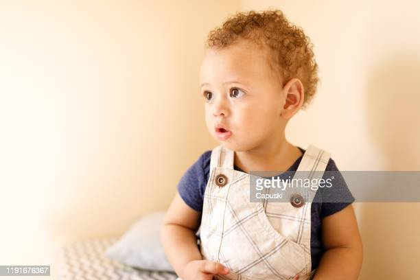 baby boy portrait - baby boys stock pictures, royalty-free photos & images
