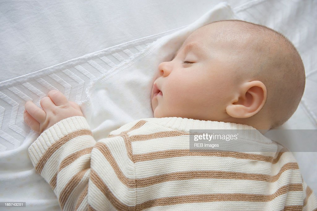 Baby boy sleeping,  close up : Stock Photo