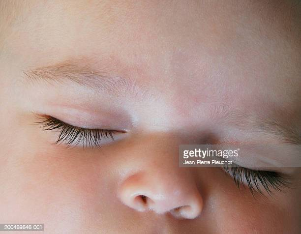 baby boy (0-3 months) sleeping, close-up - 0 1 months stock pictures, royalty-free photos & images