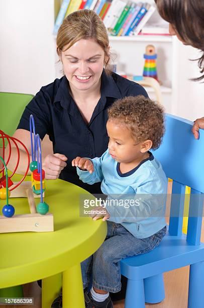 Baby Boy/ Toddler Enjoys Playtime Under Supervision