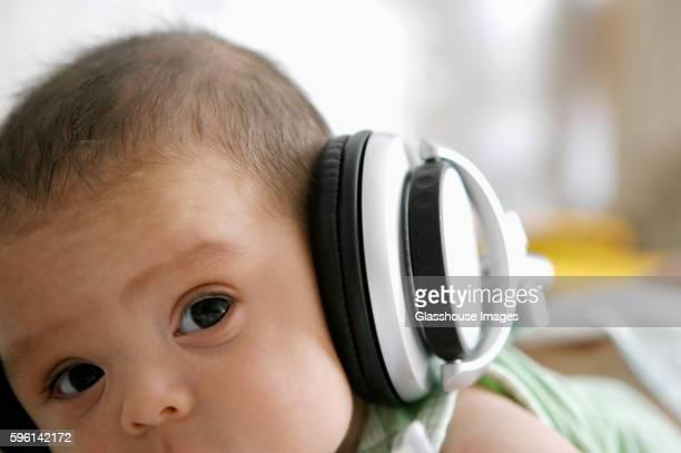 Baby Boy Wearing Headphones
