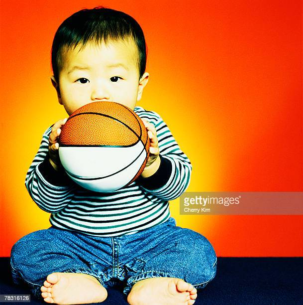 Baby boy with basketball
