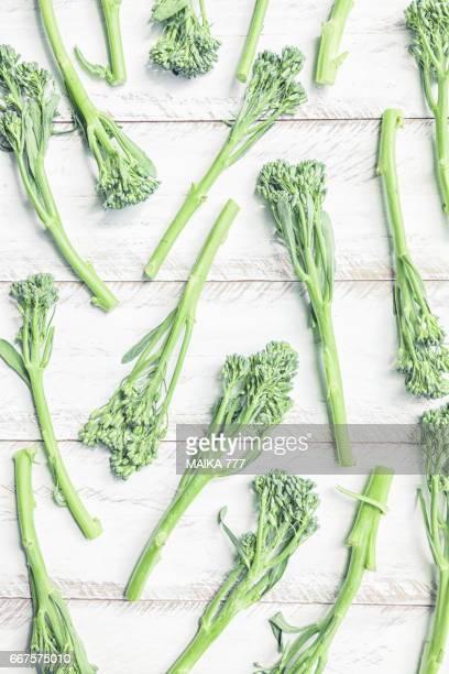 Baby broccoli also called fresh broccoli, bimi, American broccoli...