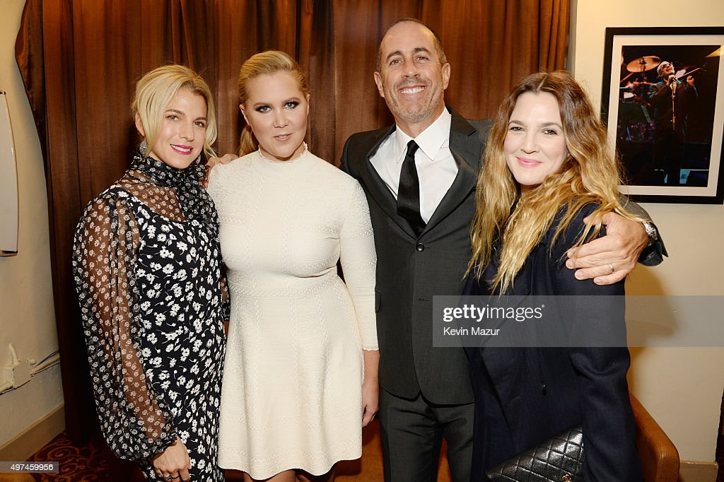 Baby Buggy Founder Jessica Seinfeld, actress Amy Schumer, comedian Jerry Seinfeld, and actress Drew Barrymore attend as Baby Buggy celebrates 15 years with 'An Evening with Jerry Seinfeld and Amy Schumer' presented by Bank of America - Inside at Beacon Theatre on November 16, 2015 in New York City.