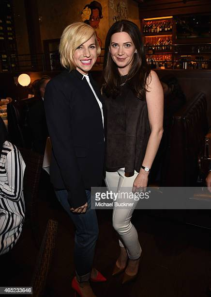 Baby Buggy Founder Jessica Seinfeld and Rochelle Gores Fredston attend the Inaugural Los Angeles Fatherhood Lunch to Benefit Baby Buggy hosted by...