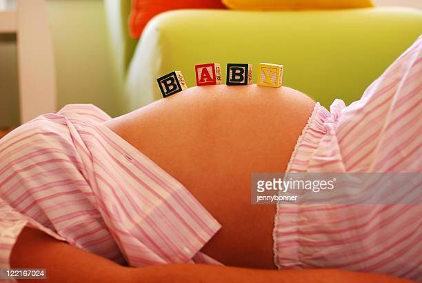 Baby Bump Pregnant Young Womans Stomach