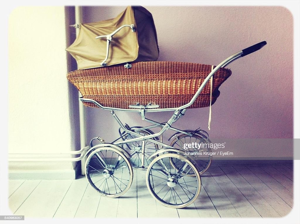 Baby Carriage In Home : Stock Photo