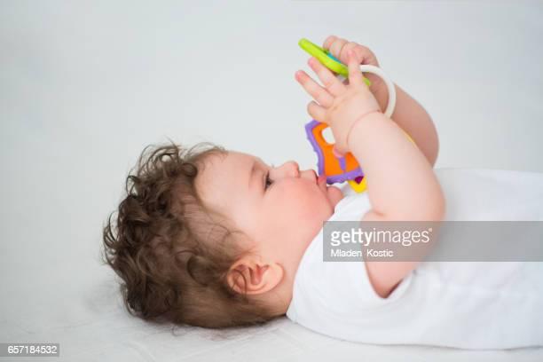 Baby den Mund kauen Spielzeug