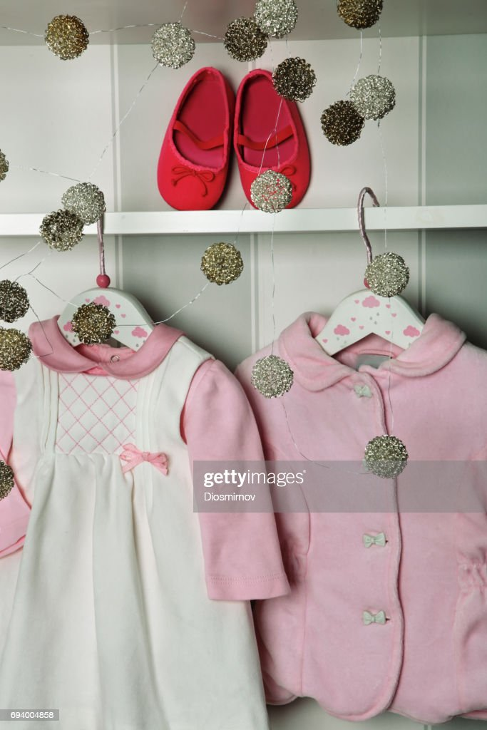 baby clothes concept of child fashion flat lay childrens clothing