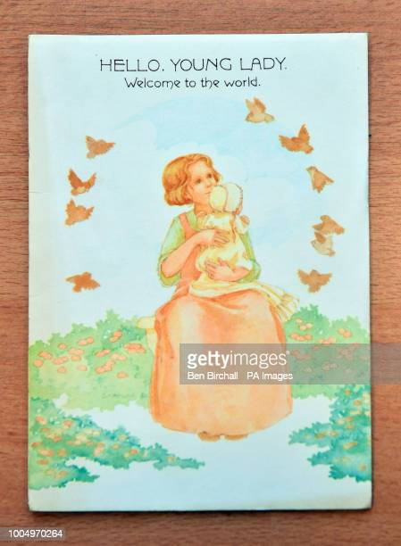 A baby congratulation card which forms part of the Lesley Brown archive a collection of items kept by the mother of the worldOtildes first test tube...
