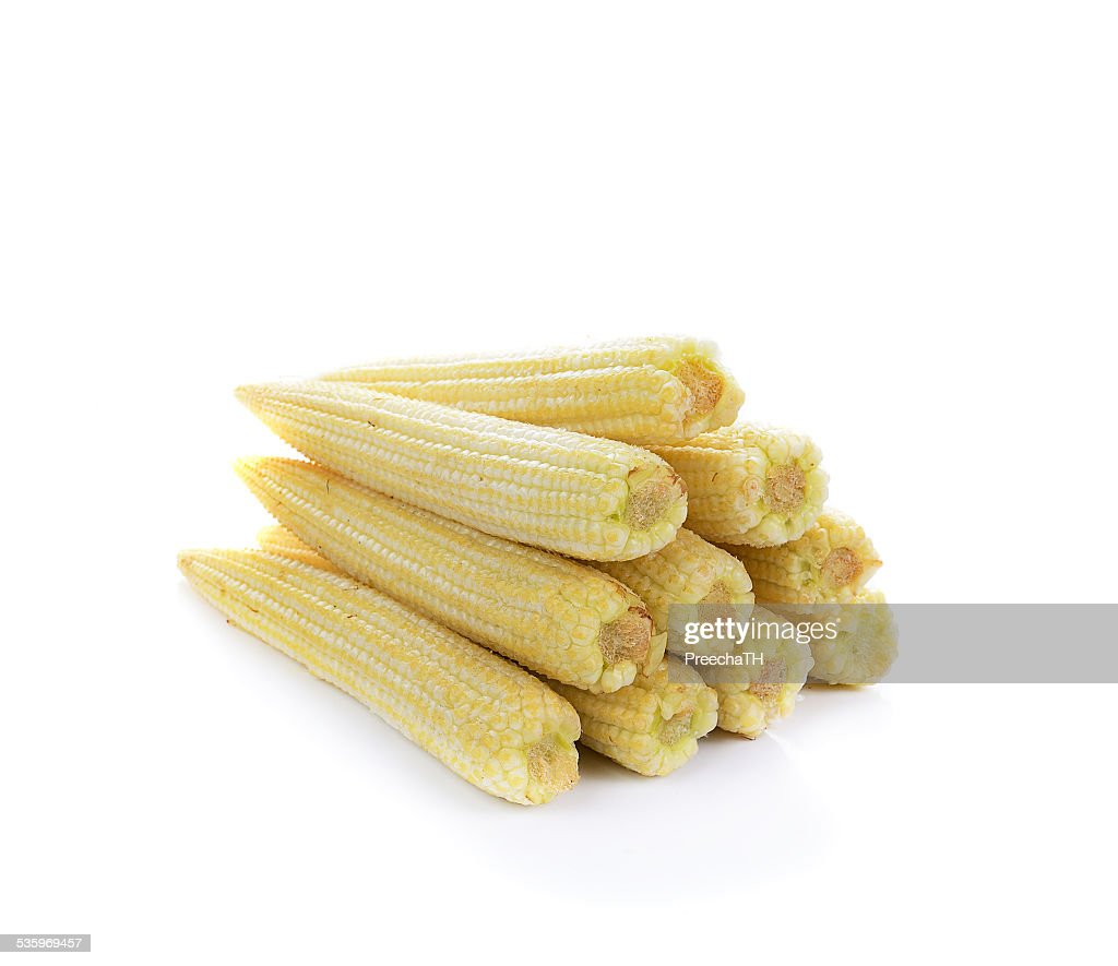baby corn isolated on white : Stock Photo