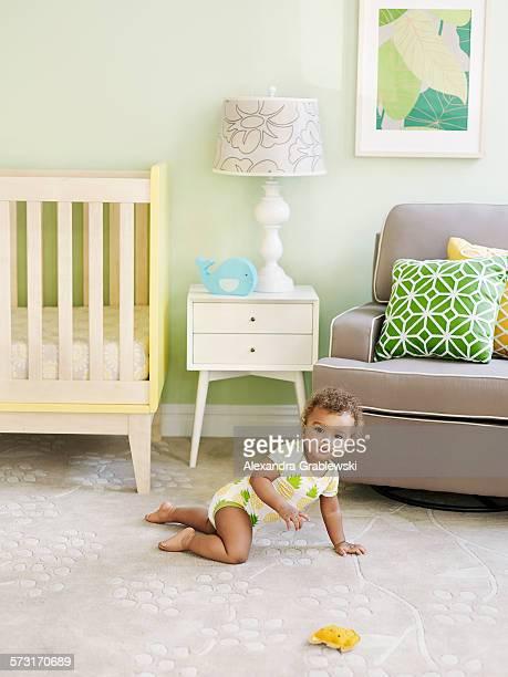 Baby Crawling in Nursery
