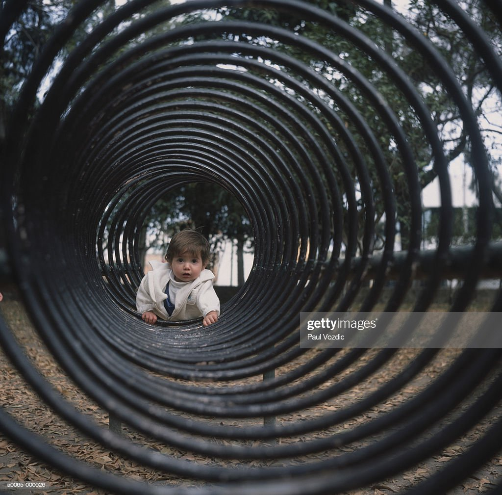 more photos a469f 94c95 Baby Crawling Through Tunnel Stock Photo - Getty Images