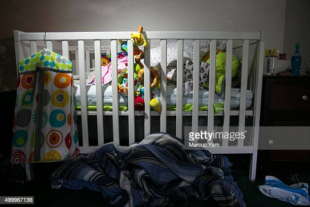 A baby crib is seen inside the baby room of the house where Syed Rizwan Farook and Tafsheen Malik suspects of the deadly recent mass shootings lived...