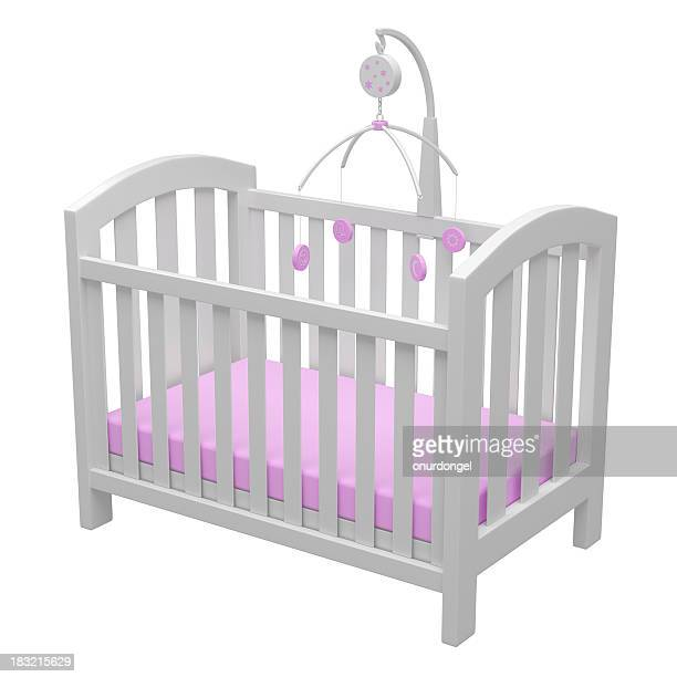 baby crib - mobile stockfoto's en -beelden