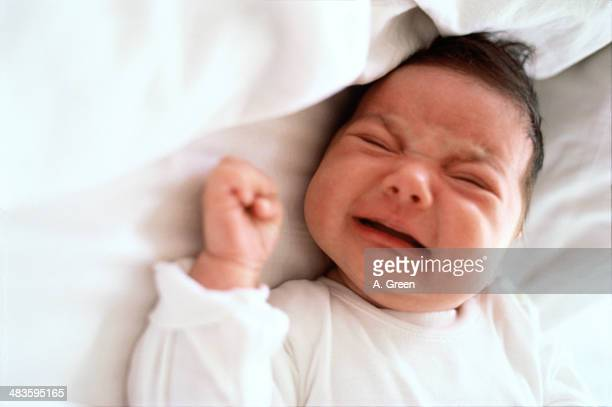 baby crying - baby blues stock pictures, royalty-free photos & images