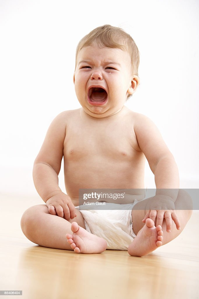 Baby crying : Foto de stock