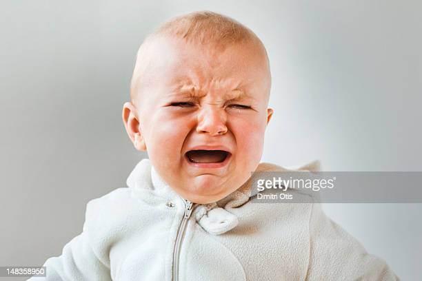 Baby crying, screaming and howling, close-up