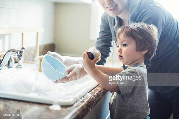 Baby Dish Washing