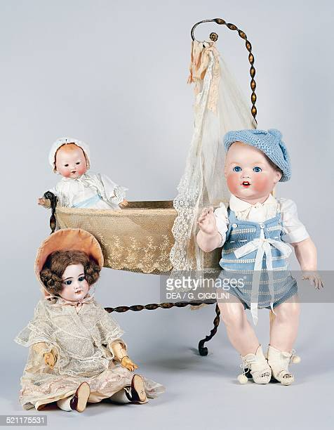 Baby doll No 518/9k and dolls with bisque heads made by Armand Marseille ca 1930 Germany 20th century Germany