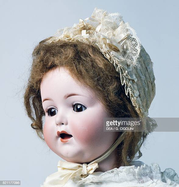 Baby doll No 996 with bonnet bisque head doll made by Armand Marseille 1930 Germany 20th century Detail Germany